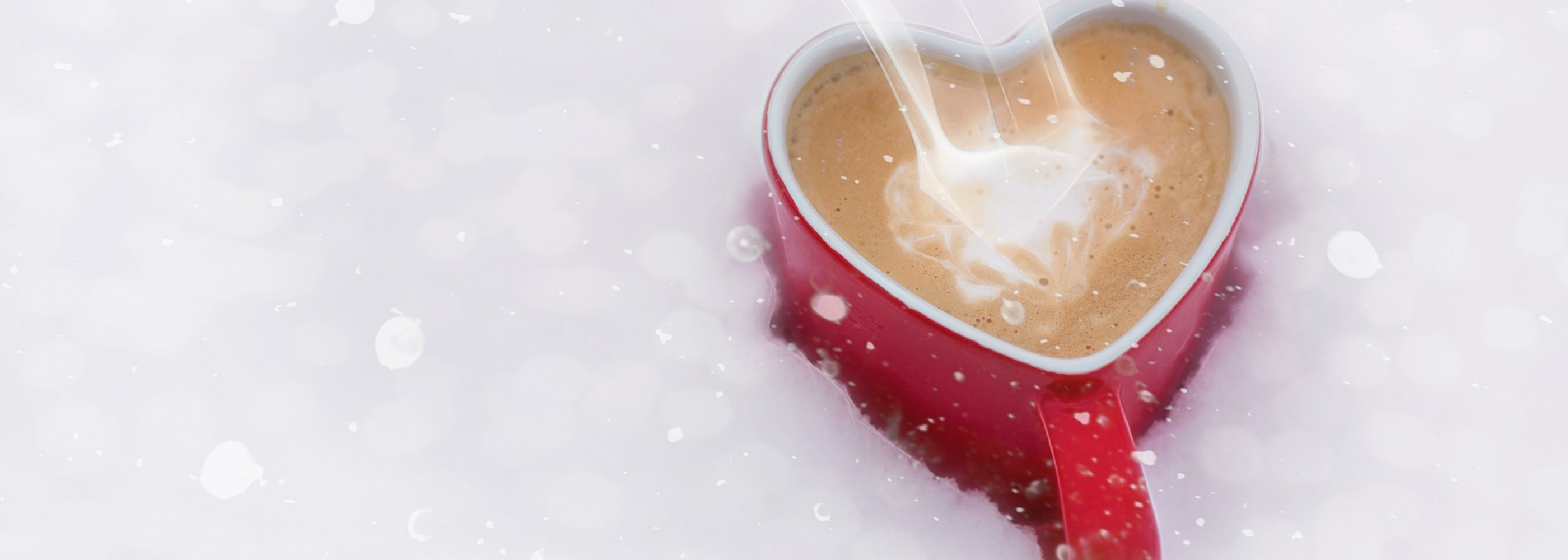 snow and coffee