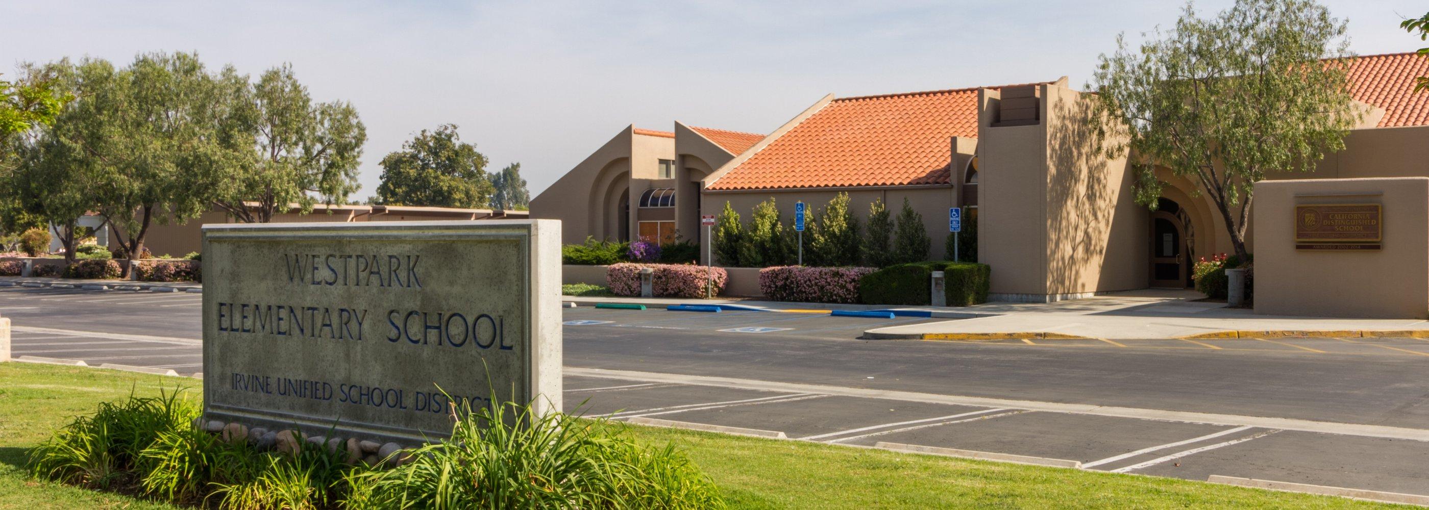 front of westpark school